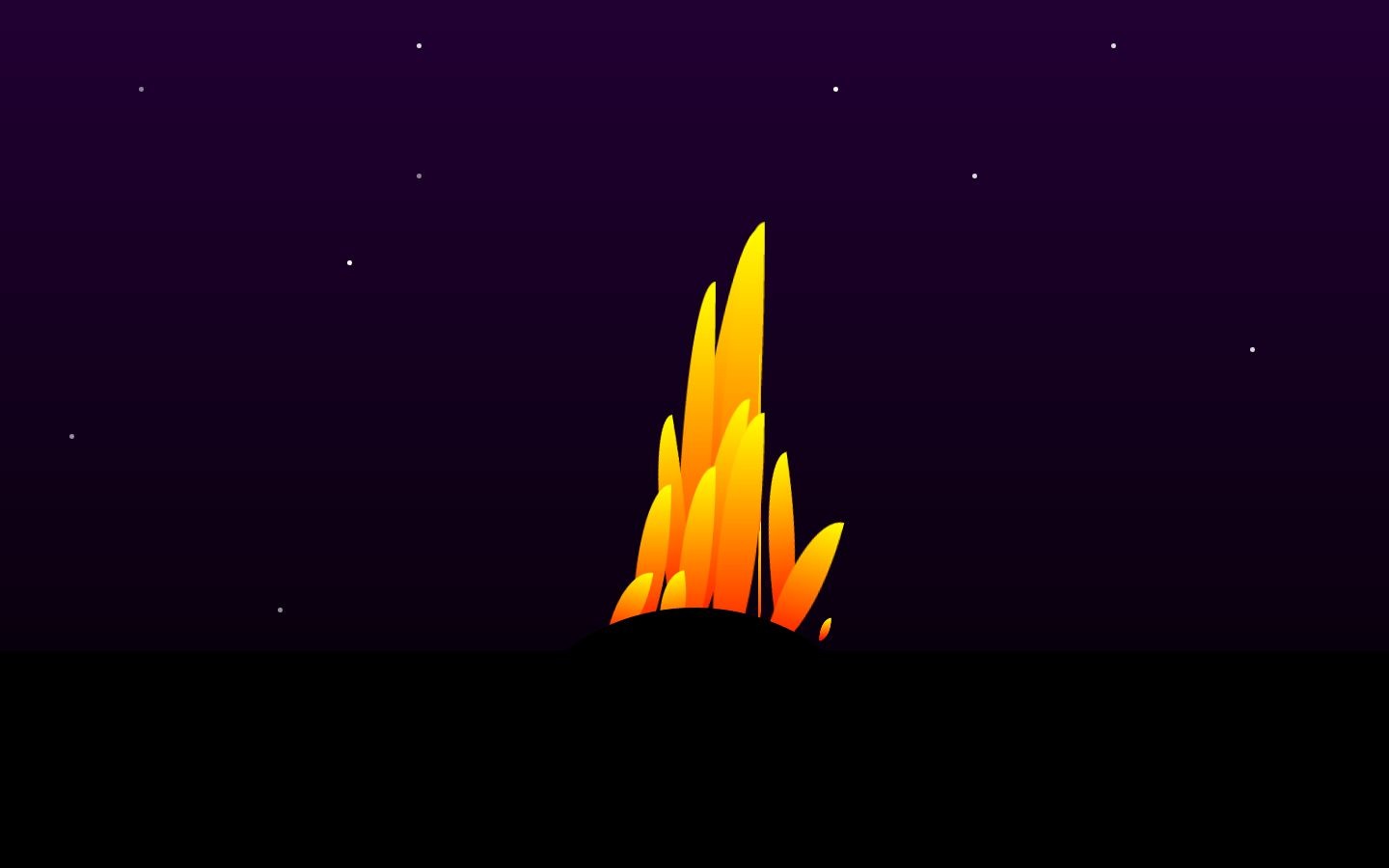 Magic fire CSS animation - post preview